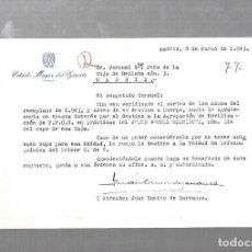 Militaria: ESTADO MAYOR DEL EJERCITO. MADRID. 1943. CARTA DE JUAN RAMIRO DE CARRANZA. Lote 126334335