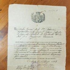 Militaria: ANTIGUO DOCUMENTO MILITAR EXCLUSION TEMPORAL DE SERVICIO ORIHUELA ALICANTE 1907. Lote 126575555