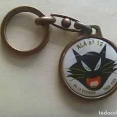 Militaria: AVIACION : LLAVERO DEL ALA Nº 12 ( NO LE BUSQUES TRES PIES ), DETRAS EL EF - 18 HORNET. Lote 126810567