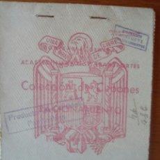 Militaria: CARTILLA CUPONES ABASTECIMIENTO RACIONAMIENTO PRODUCTOS CEREALES PANIFICABLES SALOBRAL ALBACETE 1952. Lote 126883086