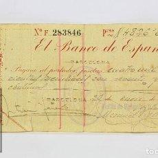 Militaria: PAGARÉ DE LA GUERRA CIVIL - BANCO DE ESPAÑA, 1939 - FLOTILLA VIGILANCIA DEFENSAS SUBMARINAS CATALUÑA. Lote 126960539