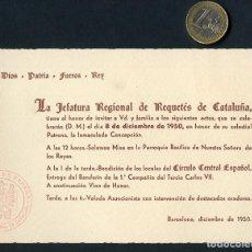 Militaria: CARLISMO, DOCUMENTO, REQUETÉS CATALUÑA, 1º COMPAÑÍA DEL TERCIO CARLOS VII, 1950. Lote 127170003