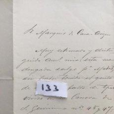 Militaria: CARTA MANUSCRITA , CARTA MANUSCRITA , 1882 , SANLÚCAR DE BARRAMEDA CÁDIZ , ARIZÓN 133. Lote 127194295