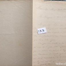 Militaria: CARTA MANUSCRITA , CARTA MANUSCRITA , 1882 , SANLÚCAR DE BARRAMEDA CÁDIZ , ARIZÓN 132 MARMOLEJO. Lote 127194447