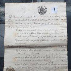 Militaria: CERTIFICADO RELACION A SALVADOR DE ARIZÓN 1864, GUERRA DE CUBA . MILITAR , 1 . Lote 127224827