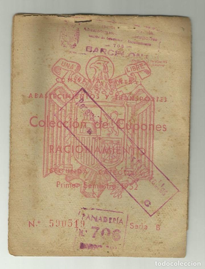 COLECCION CUPONES RACIONAMIENTO BARCELONA ACEITE, ARROZ, AZUCAR Y VARIOS (Militar - Propaganda y Documentos)