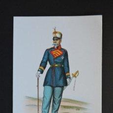 Militaria: LÁMINA UNIFORME MILITAR - CORONEL GALA - TAMAÑO 11,5 CMS X 16,5 CMS.. Lote 127868559