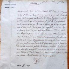 Militaria: MINISTERIO DE LA GUERRA,ORDEN REINA ISABEL II,1850,CARABINEROS DEL REINO, GUARDIA CIVIL Y EJERCITO. Lote 127905539