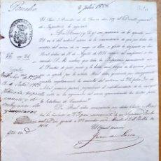 Militaria: MINISTERIO DE LA GUERRA,ORDEN REINA ISABEL II,1858,CAMBIO PARTE UNIFORMIDAD INFANTERIA Y CAZADORES-. Lote 127909027