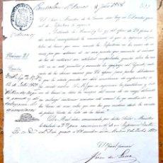 Militaria: MINISTERIO DE LA GUERRA,ORDEN REINA ISABEL II,1858,CAMBIO PARTE UNIFORMIDAD ARMA DE INFANTERIA. Lote 127910039