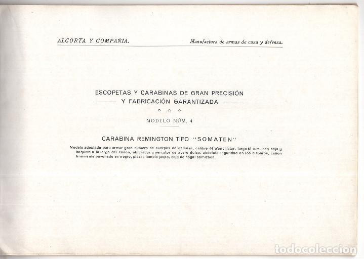 Militaria: CATÁLOGO DE ARMAS.- ALCORTA Y COMPAÑÍA. ELGOIBAR. ARMAS GARANTIZADAS DE CAZA Y DE DEFENSA - Foto 3 - 128424223