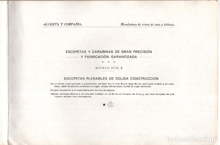 Militaria: CATÁLOGO DE ARMAS.- ALCORTA Y COMPAÑÍA. ELGOIBAR. ARMAS GARANTIZADAS DE CAZA Y DE DEFENSA - Foto 4 - 128424223