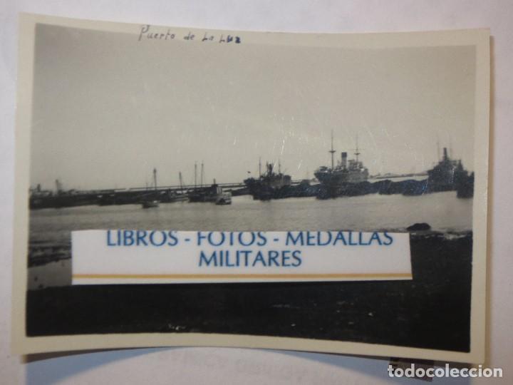 FLOTA BARCOS PUERTO DE LA LUZ EN GUERRA CIVIL LEGION ESPAÑOLA LAS PALMAS GRAN CANARIA (Militar - Propaganda y Documentos)