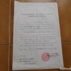 Militaria: CONCESIÓN COMENDADOR ORDEN NOBILIARIA SANTISIMA TRINIDAD 1949. Lote 129089155