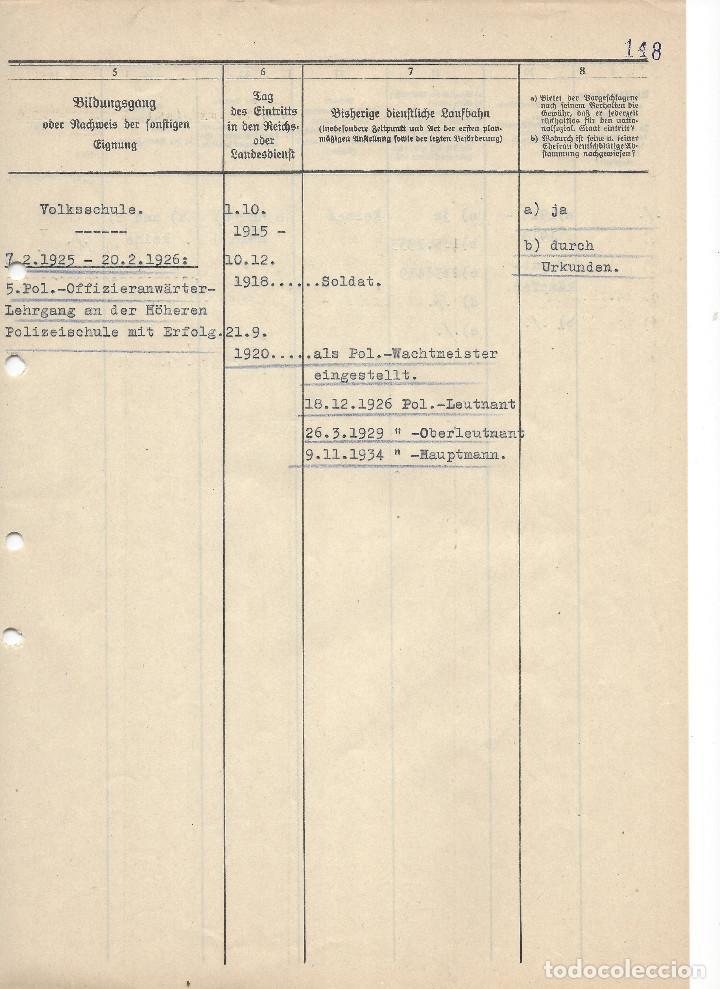 Militaria: HEINRICH HIMMLER, FIRMA MANUSCRITA EN TINTA DE PLUMA EN DOCUMENTO DE ASCENSO DE MAJOR DE LA SCHUPO - Foto 4 - 129127123