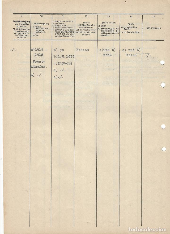 Militaria: HEINRICH HIMMLER, FIRMA MANUSCRITA EN TINTA DE PLUMA EN DOCUMENTO DE ASCENSO DE MAJOR DE LA SCHUPO - Foto 5 - 129127123