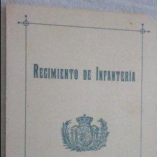 Militaria: REGIMIENTO DE INFANTERIA.ALMANSA Nº 18.CANTO A LA BANDERA.COMPOSICION PREMIADA.TARRAGONA 1909. Lote 129255083