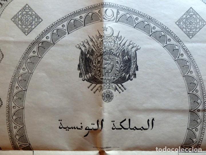 Militaria: (JX-180803)Notificación,concesión y diploma de Comendador de la Orden de Nichan Iftikhar,Tunez 1906 - Foto 11 - 129694703