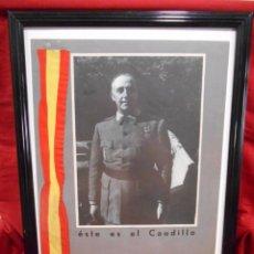 Militaria: LAMINA CARTEL ENMARCADA - PROPAGANDA DE EL CAUDILLO - GUERRA CIVIL - AÑOS 40 - ORIGINAL. Lote 130511106