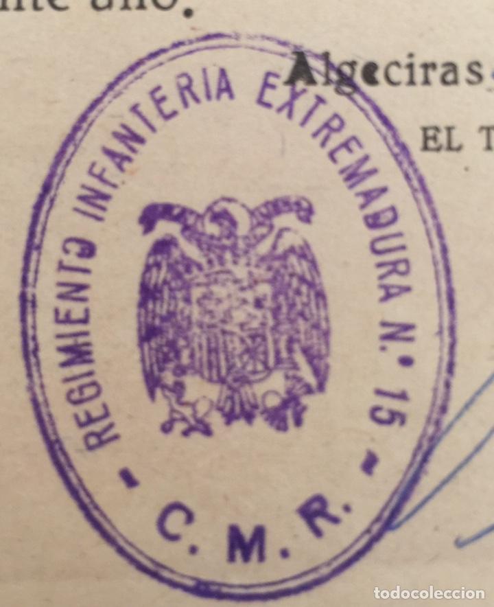 Militaria: Documento Teniente Coronel Regimiento Infantería Extremadura n15 - Alférez - Algeciras (Cádiz) 1968 - Foto 2 - 131108843