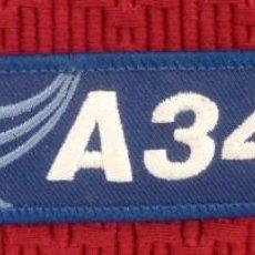 Militaria: LLAVERO DE TELA BORDADO DEL AIRBUS A340. Lote 131695270