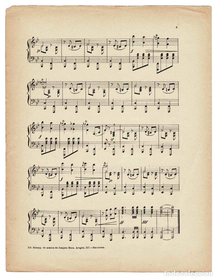 Militaria: Partitura Paso doble militar a piano Patria por J. de Cusa. 1910 - Foto 5 - 131926262
