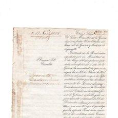 Militaria: PRIMERA REPUBLUCA DEROGACION DE LEY DE JUECES MILITARES. DEBEN PRESTAR DECLARACION. 1873. LEER.. Lote 132067070