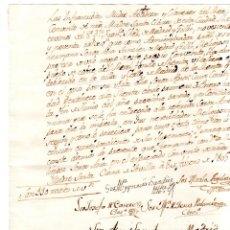Militaria: SEVILLA. CONVENTO DE SANTA CLARA. 1805. COBRO DE RENTA POR UNA MONJA.. Lote 132067146