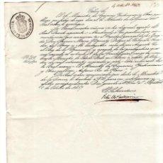 Militaria: MINISTERIO DE LA GUERRA. MADRID, 1847. NOMBRAMIENTO MINISTRO DE ESTADO D. RAMON Mª NARVAEZ. VALENCIA. Lote 132067866