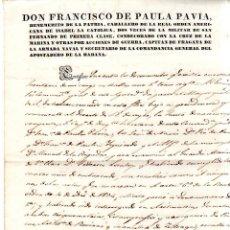 Militaria: APOSTADERO DE LA HABANA. 1843. NOMBRAMIENTO DE GUARDAMARINA DE 1ª CLASE POR HABER APROBADO.. Lote 132068186