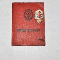 Militaria: CARNET DOSAFCON INSIGNIA .ESCUELA MARINA .PARA UN MECANICO.1976 A.URSS. Lote 132357090
