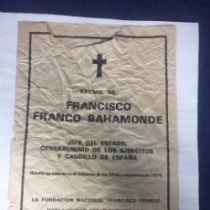 Militaria: PERIÓDICO YA FUNDACIÓN FRANCISCO FRANCO RECORTE PERIÓDICO MISA IN MEMORIAM 20 NOVIEMBRE 1977. Lote 132536002