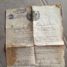 Militaria: REGIMIENTO DRAGONES NUMANCIA. SELLO EN SECO DEPÓSITO DE LA GUERRA 1922 ALFONSO XIII 11 DE CABALLERÍA. Lote 132598222