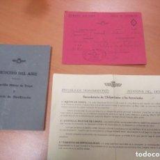 Militaria: CARTILLA Y DOCUMENTACION DEL EJERCITO DEL AIRE, AVIACION 1963 . Lote 132685942