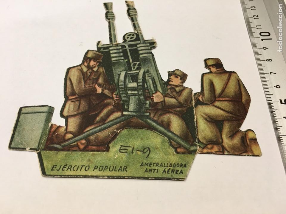 RECORTABLE EJÉRCITO POPULAR AMETRALLADORA ANTI AÉREA GUERRA CIVIL 1936-1939 (Militar - Propaganda y Documentos)