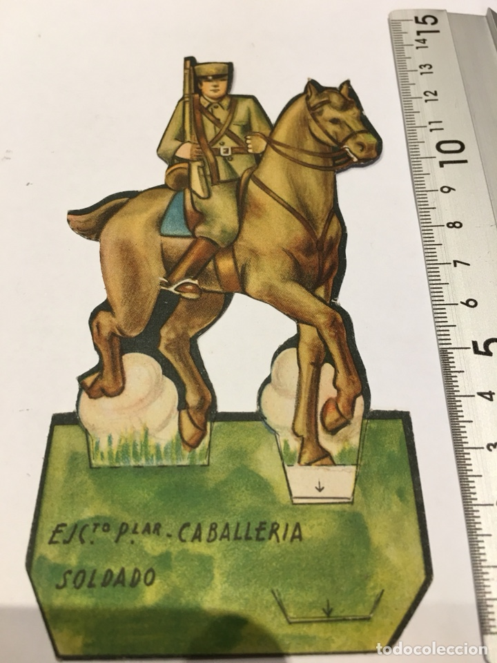 RECORTABLE EJÉRCITO POPULAR CABALLERÍA SOLDADO GUERRA CIVIL 1936-1939 (Militar - Propaganda y Documentos)