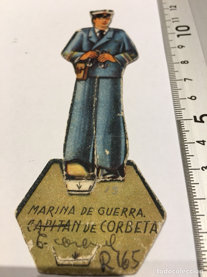 RECORTABLE EJÉRCITO II REPUBLICA MARINA DE GUERRA CAPITÁN DE CORBETA GUERRA CIVIL 1936-1939 (Militar - Propaganda y Documentos)