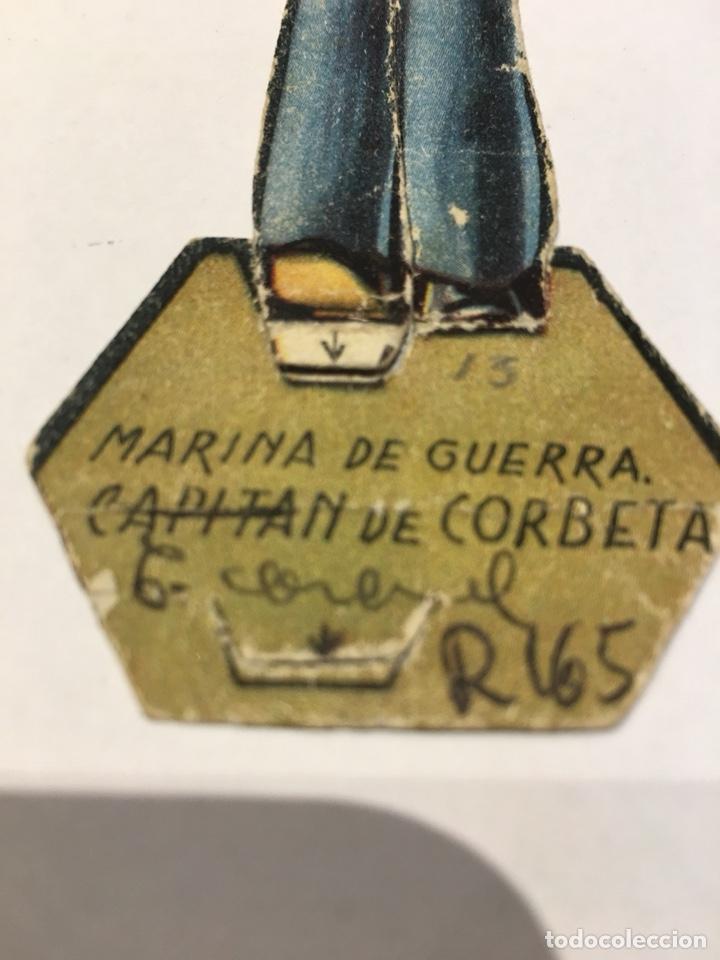 Militaria: Recortable Ejército II Republica Marina de Guerra Capitán de Corbeta guerra civil 1936-1939 - Foto 3 - 132844833