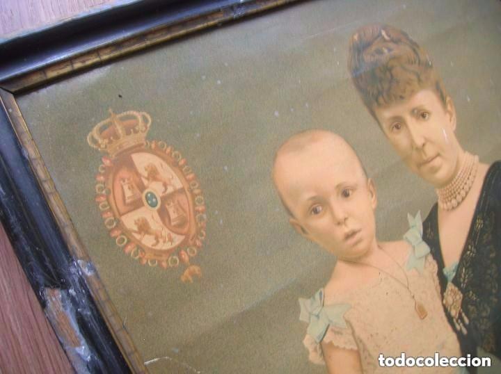 EXCEPCIONAL RETRATO DE LA REGENTE MARIA CRISTINA Y ALFONSO XIII. ULTRAMAR. CUBA. FILIPINAS. 1898. (Militar - Propaganda y Documentos)