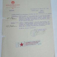 Militaria: DOCUMENTO DEL PARTIDO COMUNISTA DE ESPAÑA, COMITE CENTRAL, FEBRERO DE 1938, PLENA GUERRA CIVIL, TRAT. Lote 132971850