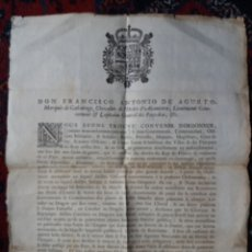 Militaria: UNICO CARTEL S.XVII 1689 IMPERIO GOB. ESPAÑOL FLANDES, BELGICA BRUSELAS MILITAR DESERCION FRANCESES. Lote 133019770