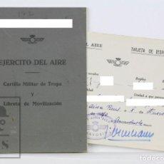 Militaria: CARTILLA MILITAR EJÉRCITO DEL AIRE Y TARJETA DE ESPECIALIDAD - CARTILLA MILITAR DE TROPA, AÑO 1968. Lote 133186694