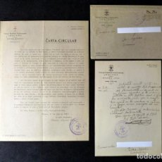 Militaria: CARTA CIRCULAR FET JONS. VALENCIA 1944. ORDEN DE VESTIR CAMISA AZUL Y BOINA ROJA+SOBRE+CARTA. Lote 133369962