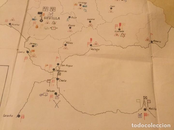Militaria: GRAFICO MAPA ORGANIZACION MILITAR CAPITAN DE E. M. D. Jose Mª de Viu Ministerio de Guerra año 19 - - - Foto 6 - 133585130