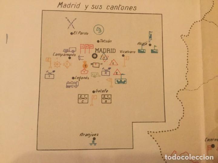 Militaria: GRAFICO MAPA ORGANIZACION MILITAR CAPITAN DE E. M. D. Jose Mª de Viu Ministerio de Guerra año 19 - - - Foto 8 - 133585130