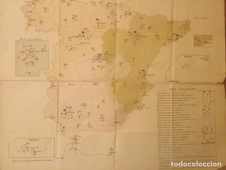 Militaria: GRAFICO MAPA ORGANIZACION MILITAR CAPITAN DE E. M. D. Jose Mª de Viu Ministerio de Guerra año 19 - - - Foto 2 - 133585130