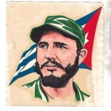 Militaria: CUBA. CALCOMANIA DOUBLE-BOND. 5/9/1959. FIDEL CASTRO BANDERA CUBA. 18 X 19CM. INDUSTRIAS DEKALCOS . Lote 133891786