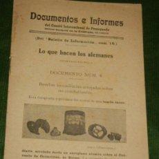 Militaria: PROPAGANDA 1A GUERRA MUNDIAL - LO QUE HACEN LOS ALEMANES - CONTINUACION - HACIA 1915. Lote 134116306