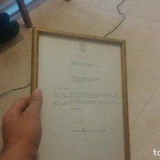 Militaria: CASA REAL JUAN CARLOS I DOCUMENTO ENMARCADO Y FIRMADO. Lote 135024814