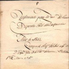 Militaria: REGLAMENTO PROVISIONAL PARA EL... DEPÓSITO GENERAL DE INSTRUCCIÓN DE INFANTERÍA - VINAROZ 1814. Lote 135385478